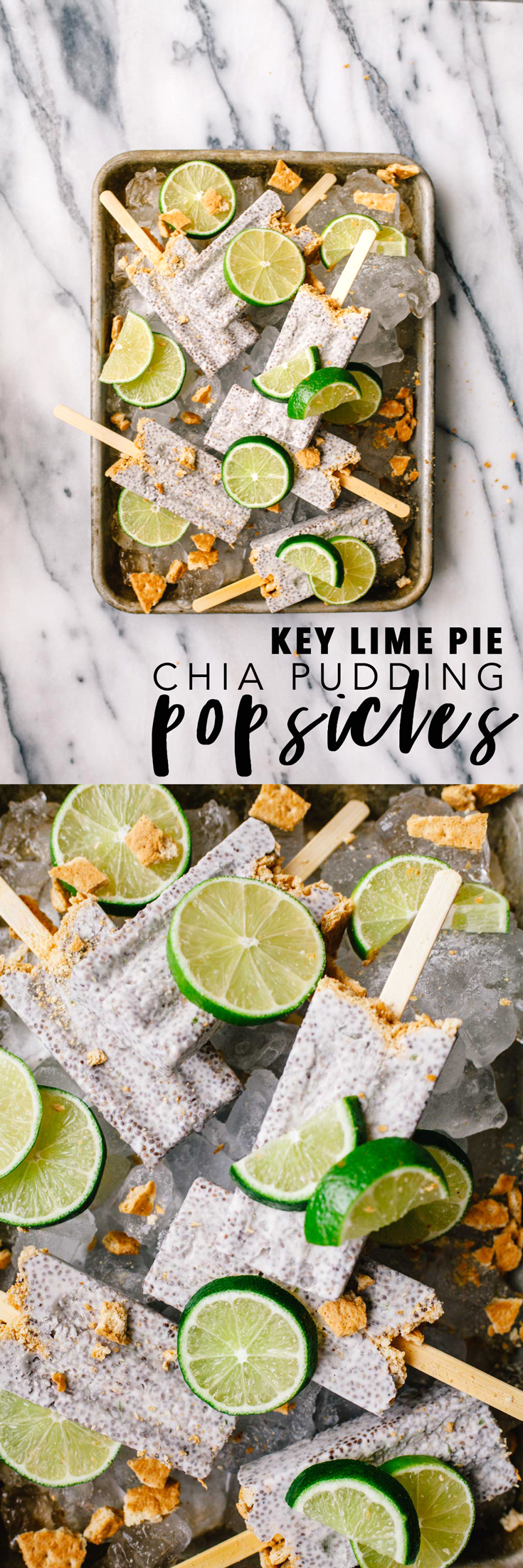 Completely dairy-free, just 5 ingredients, and insanely delicious, these Key Lime Pie Chia Pudding Popsicles are literally just frozen breakfast. #chiapudding #keylimepie #popsicles #popsicleweek | Brewing Happiness