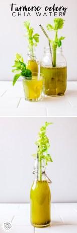 Turmeric Celery Chia Water | Brewing Happiness