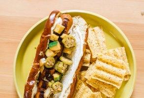 Summer Relish Veggie Dogs with Tofu Mayo