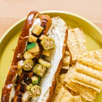 Summer Relish Veggie Dogs with Tofu Mayo