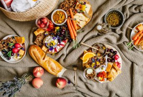 Epic Floral Cheese Platter | Brewing Happiness