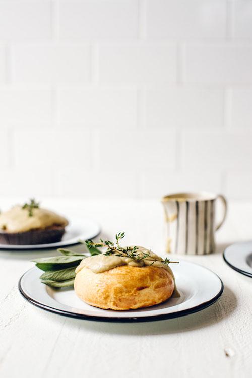 Pot pie with vegan chickpea gravy