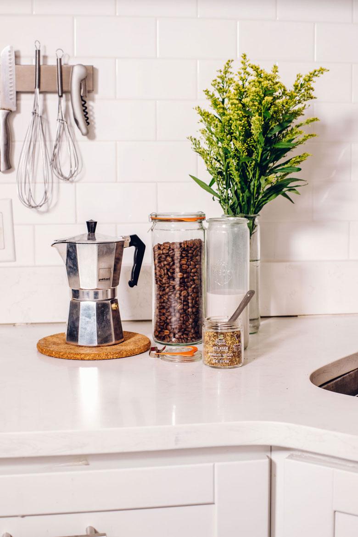 ingredients needed to make an awaken spice latte