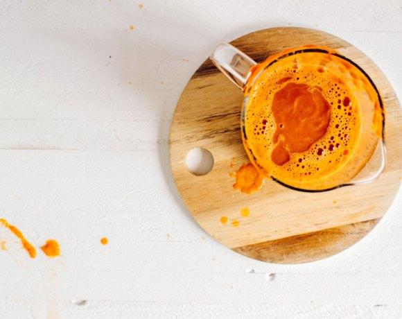 Fall Harvest Pumpkin-Carrot Blender Juice | #virtualpumpkinparty