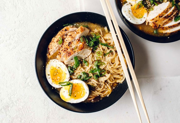 Spicy Maple Miso Chicken Ramen