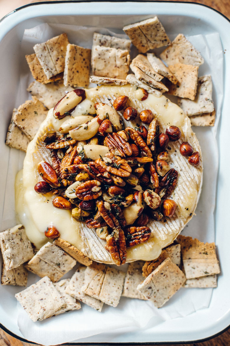 Savory Herbed Holiday Baked Brie | Brewing Happiness