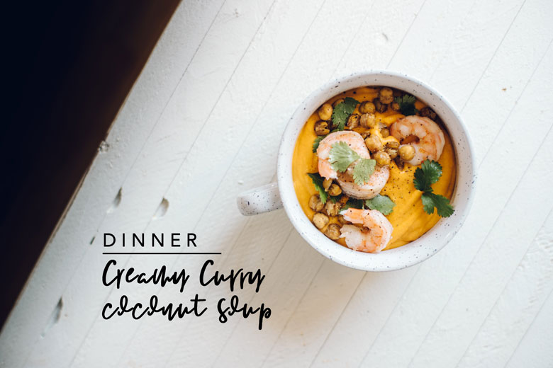 Dinner Creamy Coconut Curry Soup meal prep