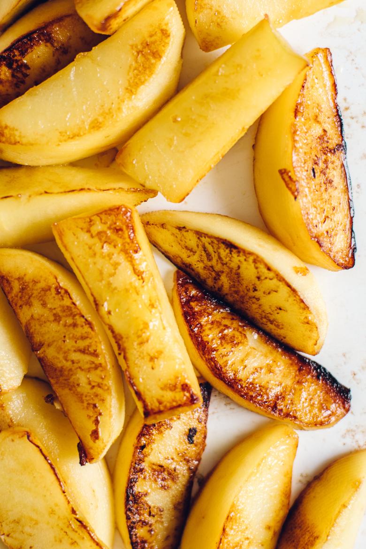 marinated and sautéd autumn glory apples