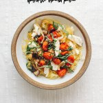 Eggplant Caprese Spaghetti Squash Pasta