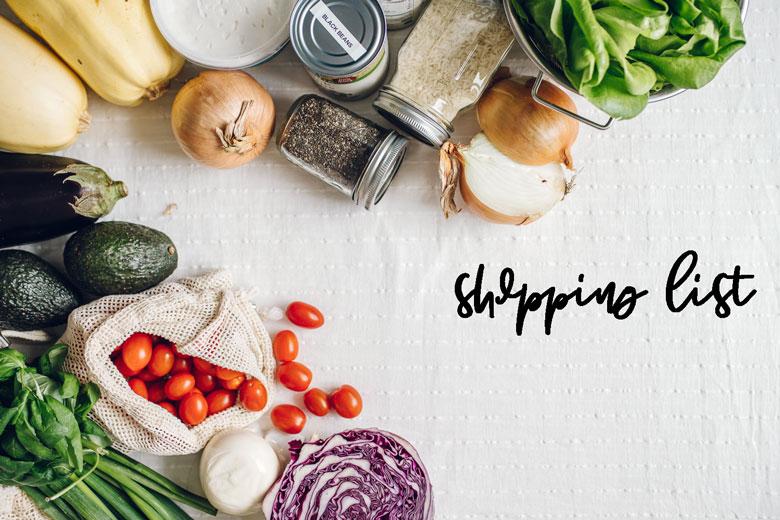 vegetarian meal prep guide shopping list