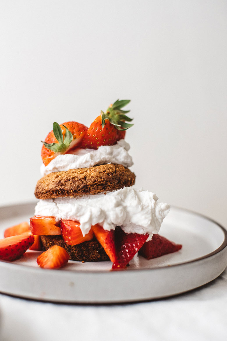 Easy Grain-Free Strawberry Shortcake | Brewing Happiness