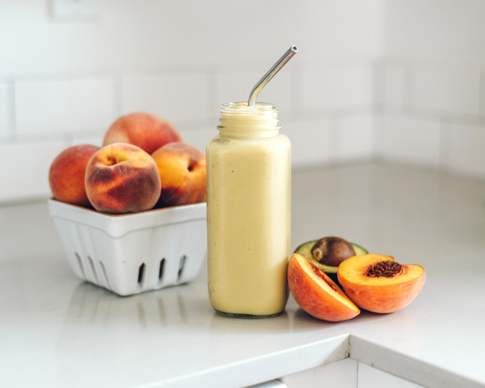 Paleo Peach Smoothie   Brewing Happiness