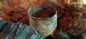 This over 3000 years of birch bark bucket was found from Etgved, Denmark. It had contained ancient beer