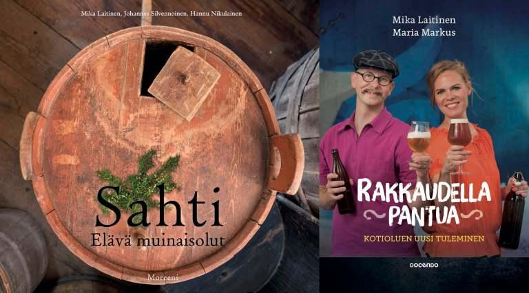 The books Sahti: Elävä muinaisolut ja Rakkaudella pantua