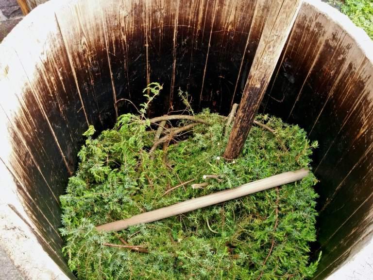 Juniper branch filter for Estonian koduõlu farmhouse ale