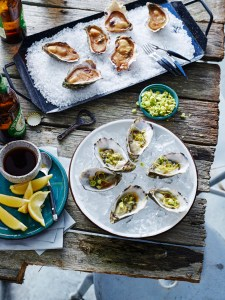 Oysters two ways: Image from Kitchen Mojo by Paul Mercurio, published by Murdoch Books