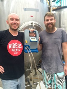 Shandy and Mark of Riders Brewing with Beverley