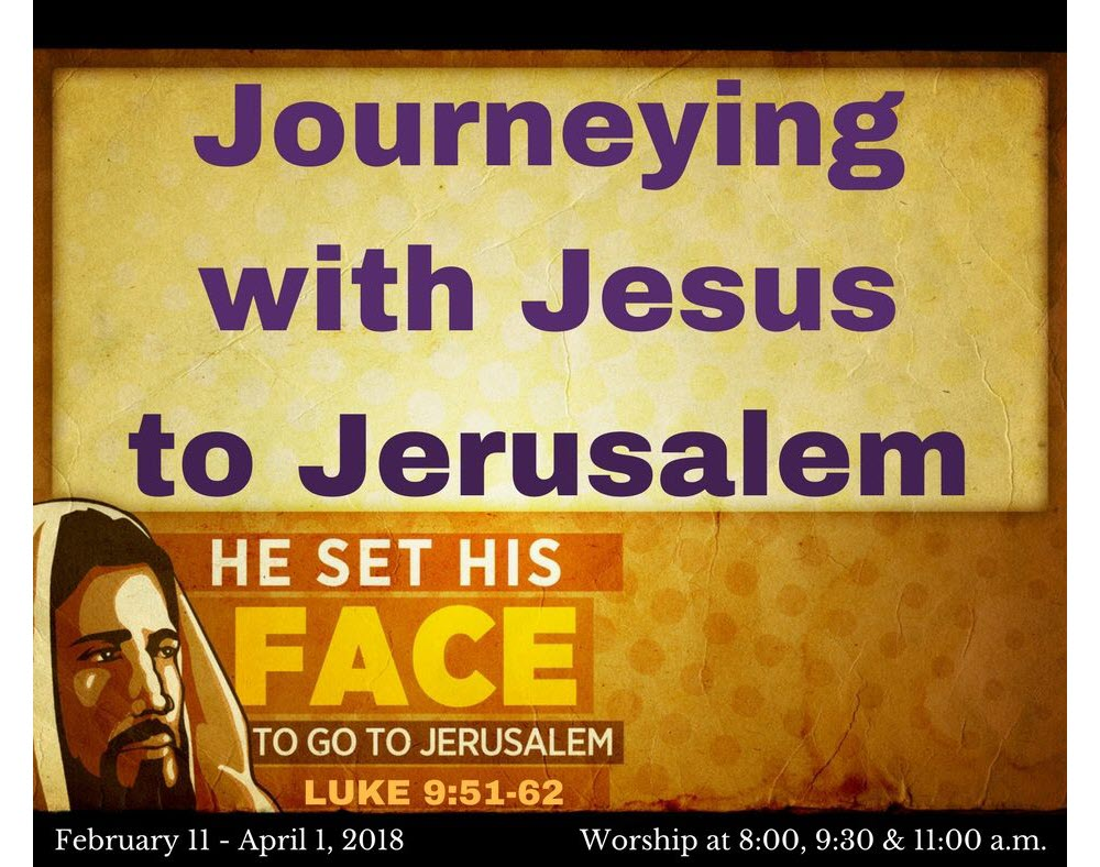 Journeying with Jesus to Jerusalem