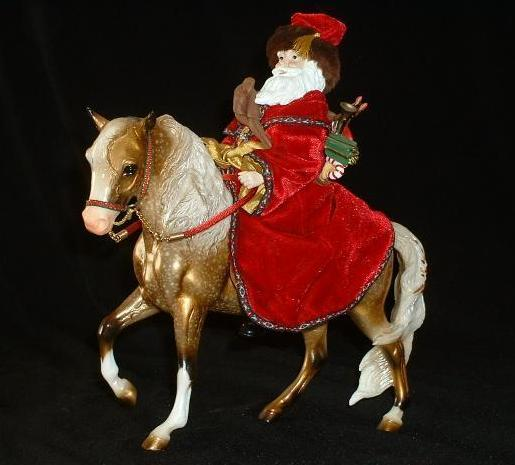 Breyer Christmas Horse Father Christmas And Glittery