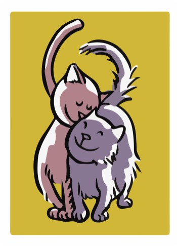 The loving cats