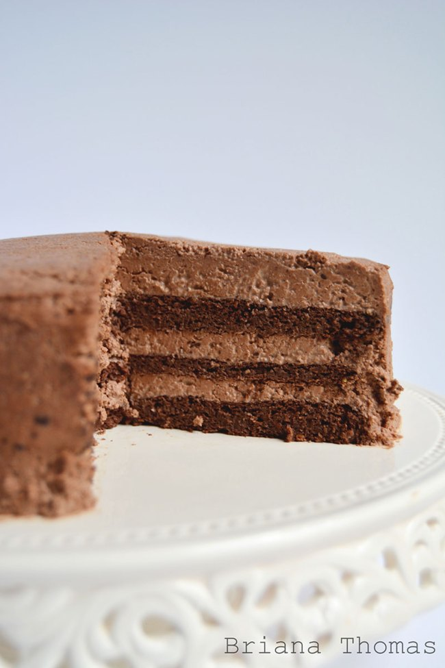 Low-Carb Fudgy Chocolate Layer Cake