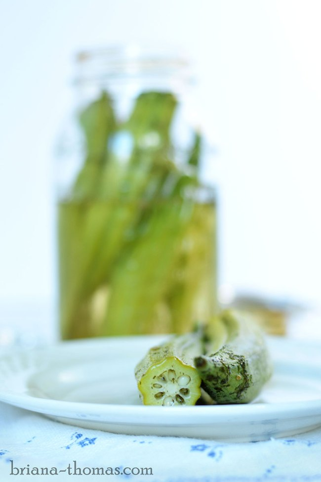 Sweet and Sour Refrigerator Pickled Okra
