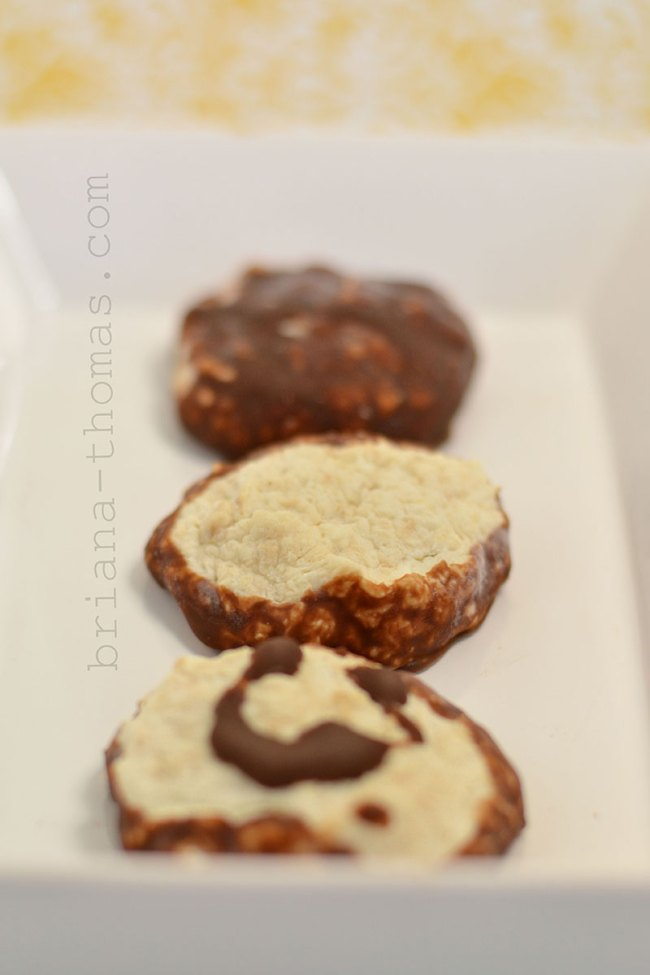 Chocolate-Dipped Sour Cream Macaroons with Toasted Coconut