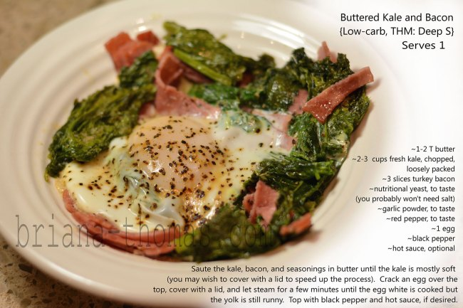 Buttered Kale and Bacon