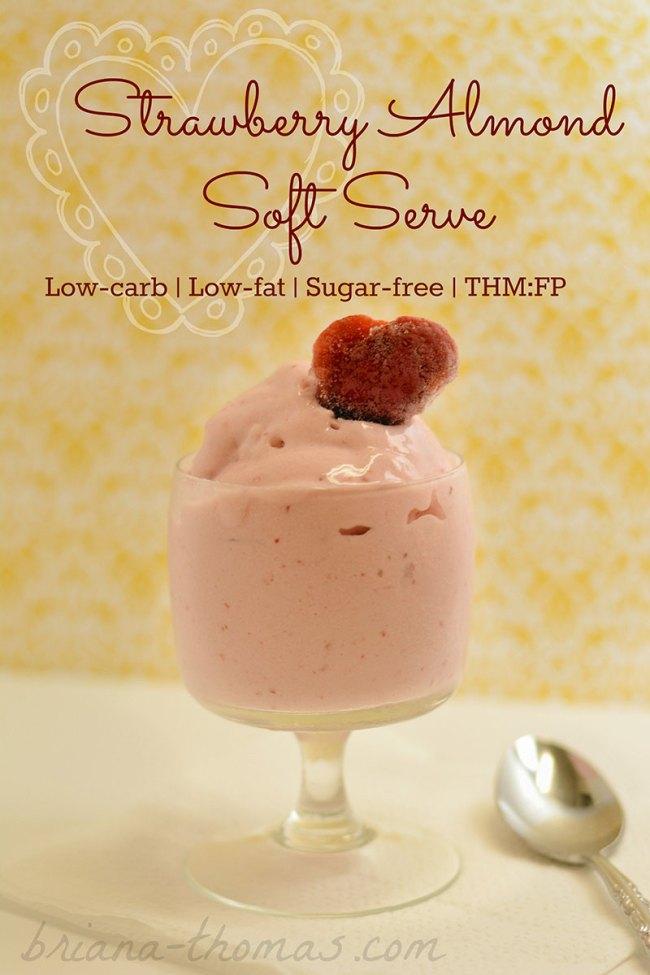 Strawberry Almond Soft-Serve
