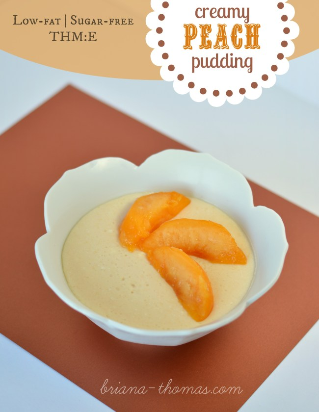 creamy peach pudding