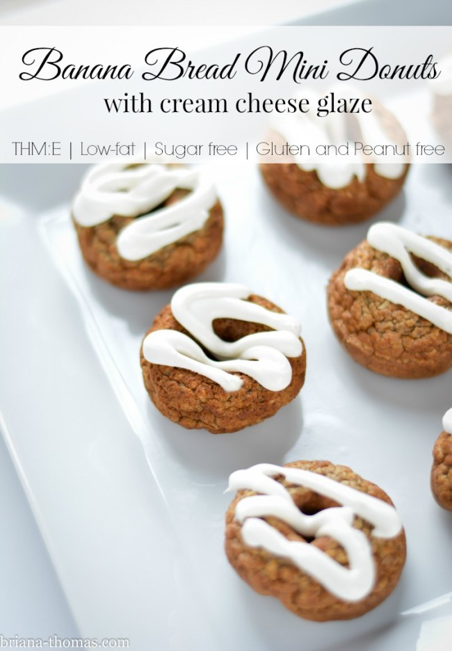 Banana Bread Mini Donuts with Cream Cheese Glaze