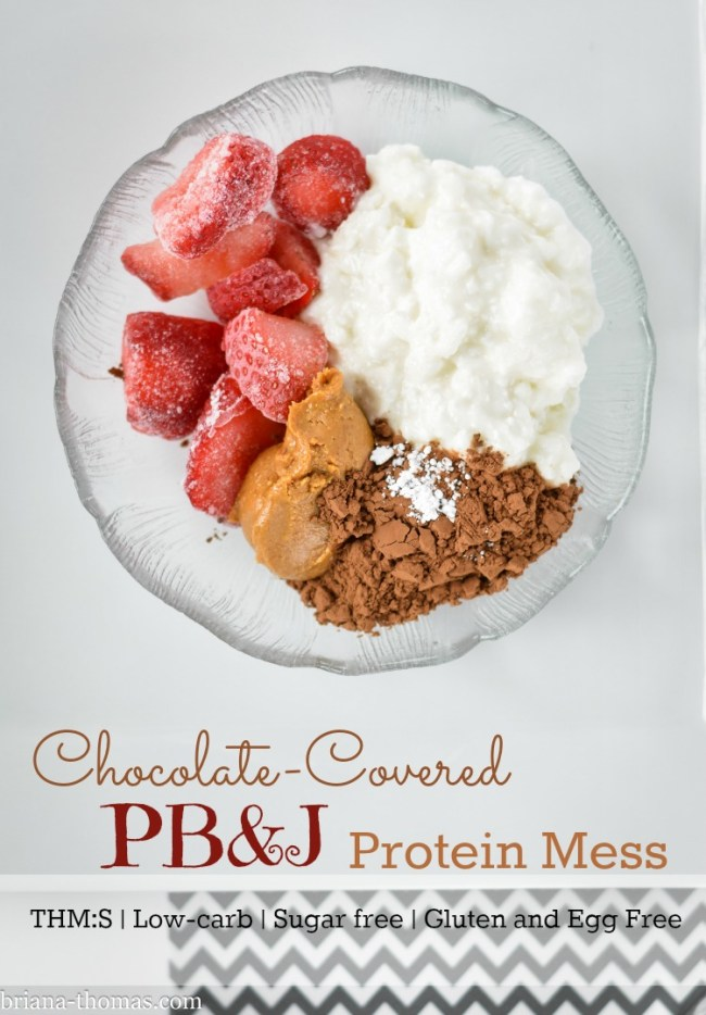 Chocolate-Covered PB&J Protein Mess