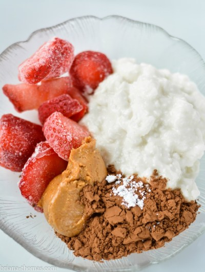 Chocolate Covered PB&J Protein Mess