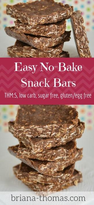 Easy No Bake Snack Bars