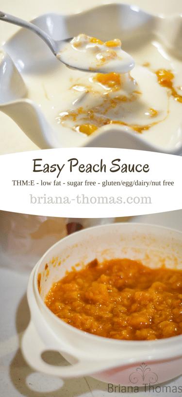Easy Peach Sauce