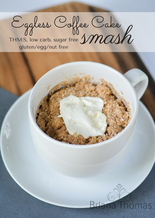 Eggless Coffee Cake Smash