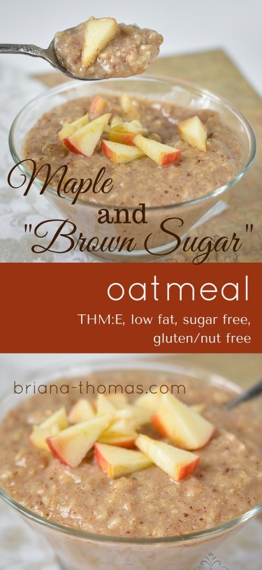 Creamy Maple and Brown Sugar Oatmeal