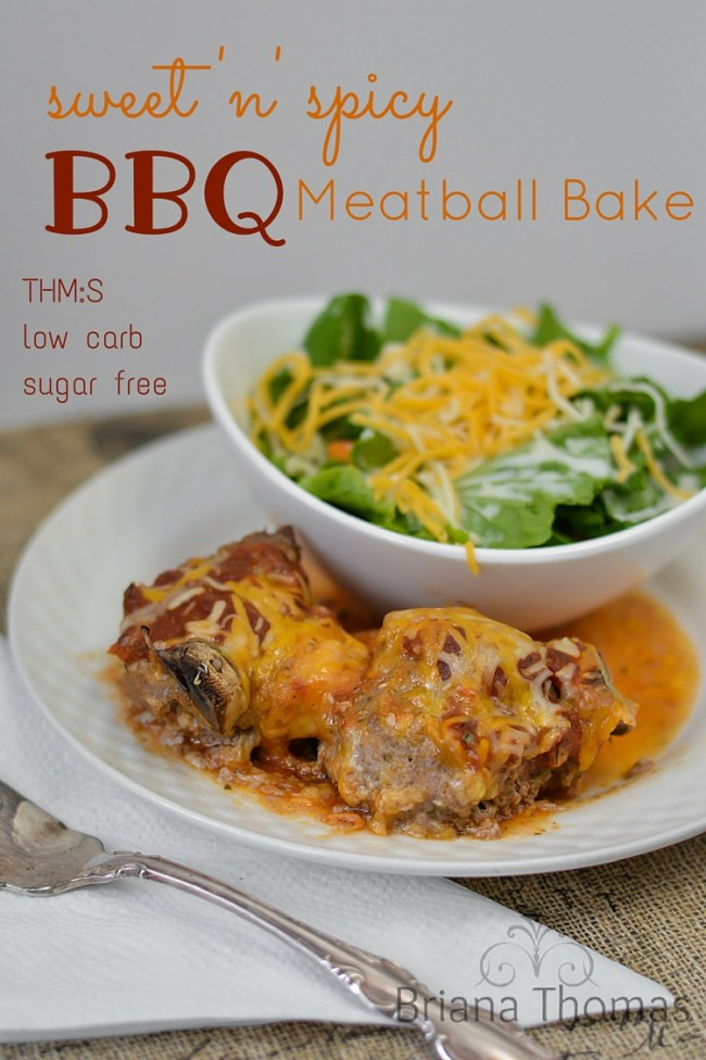 Sweet n Spicy BBQ Meatball Bake