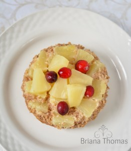 Pineapple Upside Down Cake in a Mug