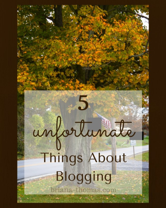 5 Unfortunate Things About Blogging