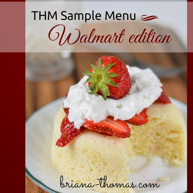 Sample Menu Walmart Edition  Briana Thomas