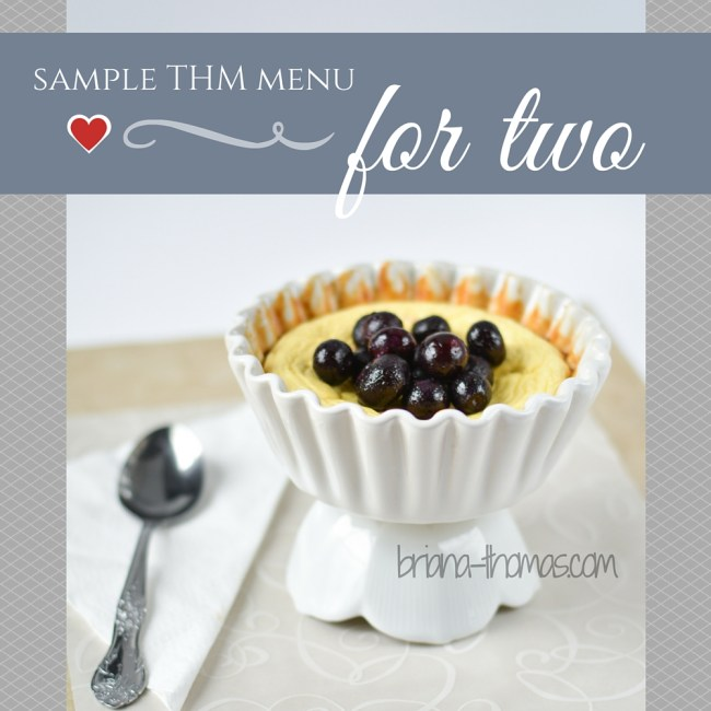 Sample Menu: Cooking for Two