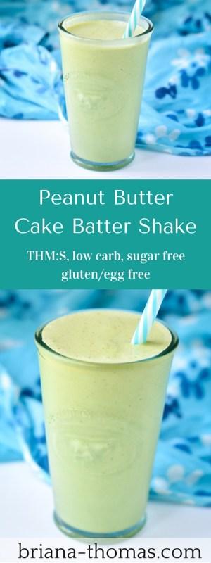 Peanut Butter Cake Batter Shake