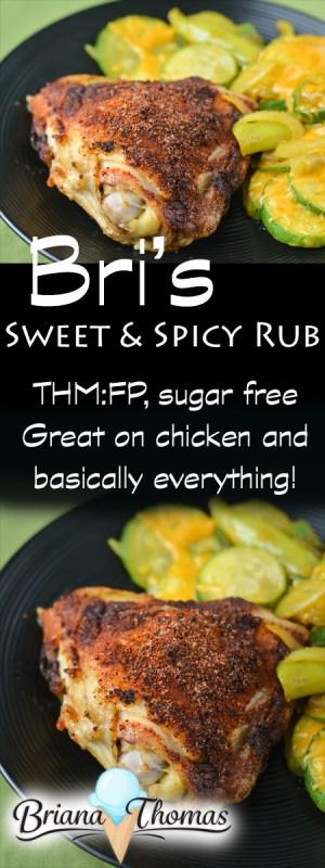 Bri's Sweet & Spicy Rub - THM:FP, low carb, sugar-free, gluten/egg/dairy/nut free