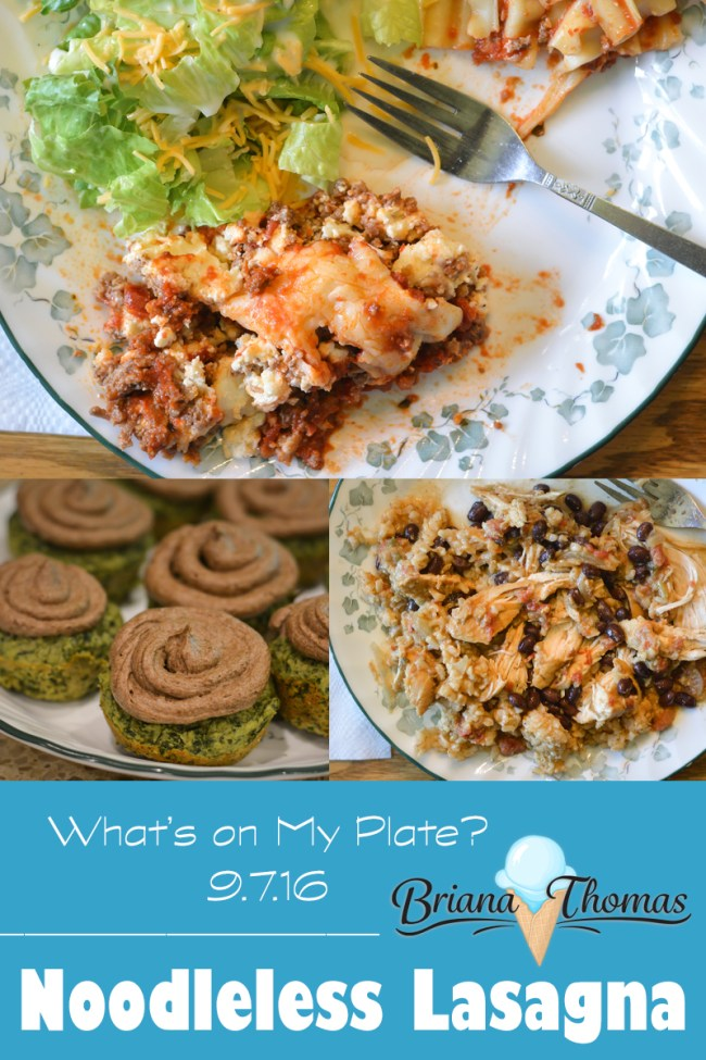Noodleless Lasagna - What's on My Plate? (9.7.16 ed.) from Briana-Thomas.com - come see what's been on my plate this week, from the delicious to the downright scary!