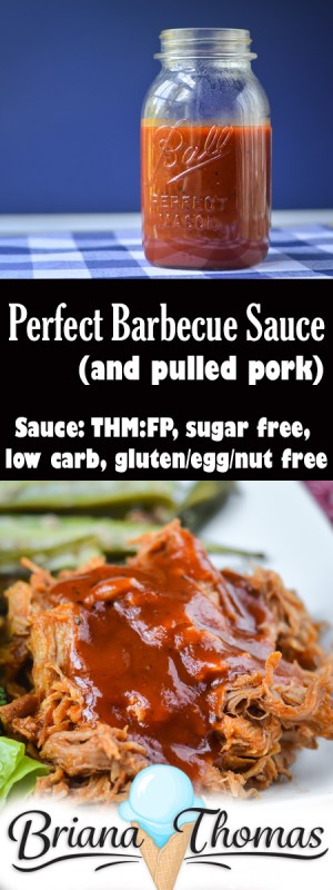 Perfect Barbecue Sauce (and Pulled Pork) - THM:FP (if using 1/4 c. per serving or less), low carb, sugar free, and gluten/egg/nut free (if using allergy-friendly ingredients)