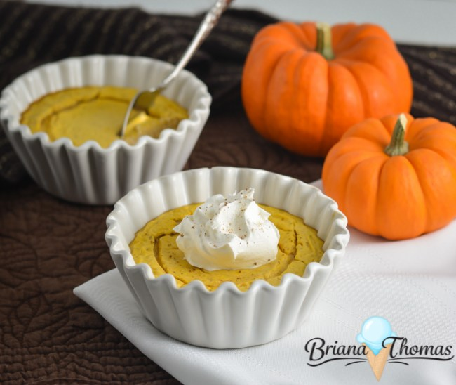 These Quick Pumpkin Cheesecakes are THM:S, low carb, sugar free, and gluten free (with a nut free option). Share one or save it for later!
