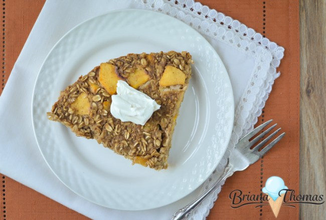 Ginger Peach Oatmeal Cake - THM:E, low fat, sugar free, gluten/dairy/nut free