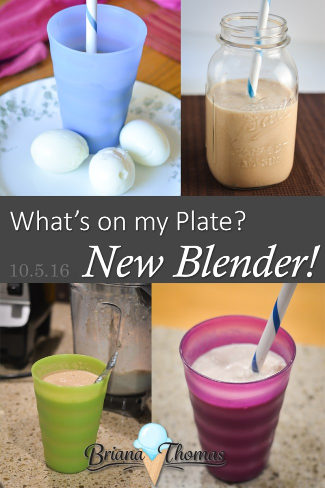 What's on My Plate? New Blender! - Briana Thomas