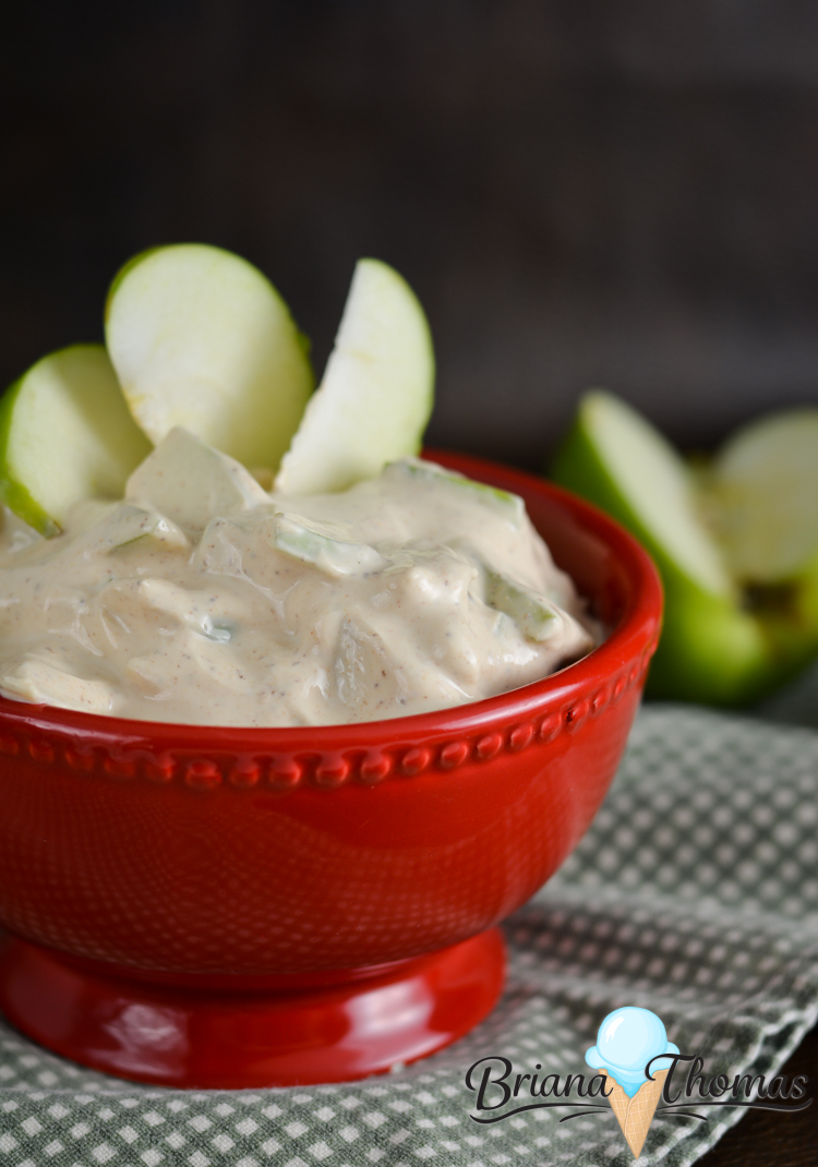 This easy apple salad is THM:E, low fat, no added sugar, and gluten/egg free. Try it with some Granny Smith Apples for a great crunch!